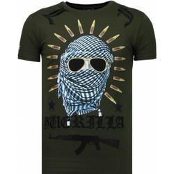 textil Herr T-shirts Local Fanatic Freedom Fighter Rhinestone Grön