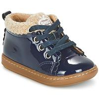 Skor Flick Boots Shoo Pom BOUBA WOOL Marin / Beige