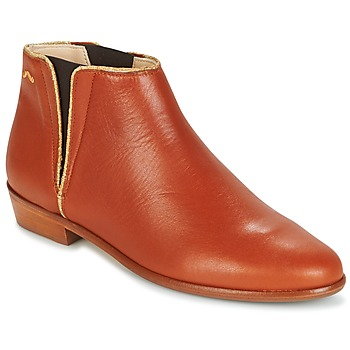 Skor Dam Boots M. Moustache JEANNE.B COGNAC / Guldfärgad