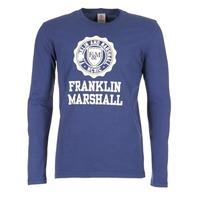 textil Herr Långärmade T-shirts Franklin & Marshall DESTU Marin