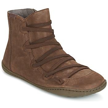 Skor Dam Boots Camper PEU CAMI Brun