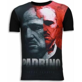 textil Herr T-shirts Local Fanatic El Padrino Digital Rhinestone Svart