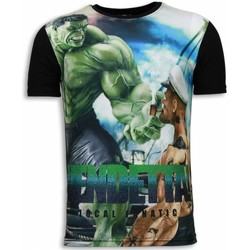 textil Herr T-shirts Local Fanatic Vendetta Digital Rhinestone Svart