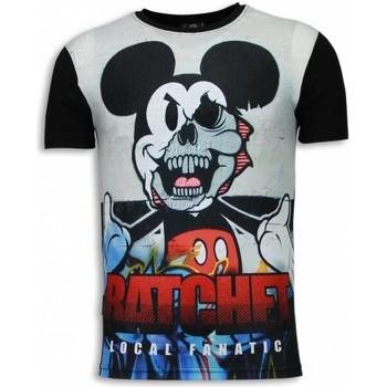 textil Herr T-shirts Local Fanatic Ratchet Mickey Digital Rhinestone Svart