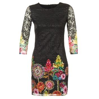 textil Dam Korta klänningar Desigual GRAFI Svart