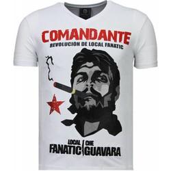 textil Herr T-shirts Local Fanatic Che Guevara Codante Rhinestone Vit
