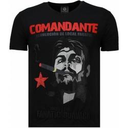 textil Herr T-shirts Local Fanatic Che Guevara Codante Rhinestone Svart