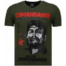 textil Herr T-shirts Local Fanatic Che Guevara Codante Rhinestone Grön