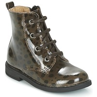 Skor Flickor Boots Citrouille et Compagnie HEMANU Svart / Brun