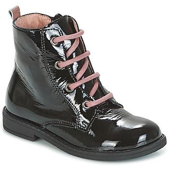 Skor Flickor Boots Citrouille et Compagnie HEMANU Svart / Rosa