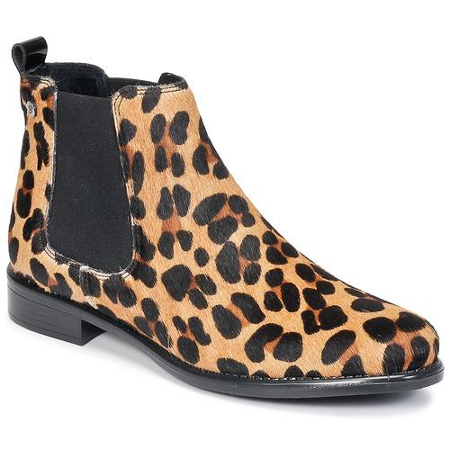 new concept e0a3b 16dec Skor Dam Boots Betty London HUGUETTE Leopard