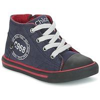 Skor Pojk Höga sneakers Chicco CRITTER Marin / Svart / Röd