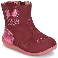 Skor Flickor Boots Kickers BRETZELLE Rosa / Mörk