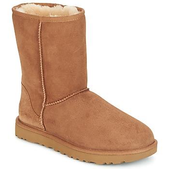 Skor Dam Boots UGG CLASSIC SHORT II Kamel