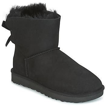 Skor Dam Boots UGG MINI BAILEY BOW II Svart