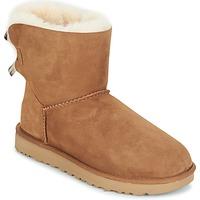 Skor Dam Boots UGG MINI BAILEY BOW II Kamel