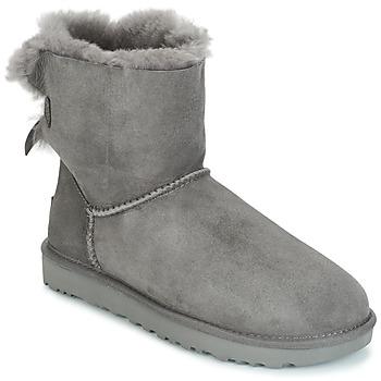 Skor Dam Boots UGG MINI BAILEY BOW II Grå