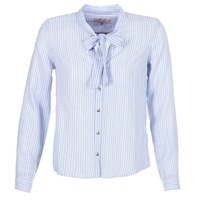 textil Dam Skjortor / Blusar Cream CAMA STRIPED SHIRT Blå
