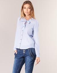 textil Dam Skjortor / Blusar Cream CAMA STRIPED SHIRT Blå