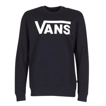 textil Herr Sweatshirts Vans VANS CLASSIC CREW Svart
