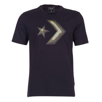 textil Herr T-shirts Converse DIMENSIONAL LAYER STAR CHEVRON TEE Svart