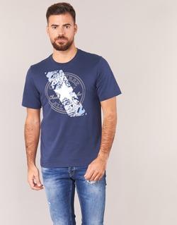 textil Herr T-shirts Converse CHUCKPATCH CONTRAST SLASH TEE Marin