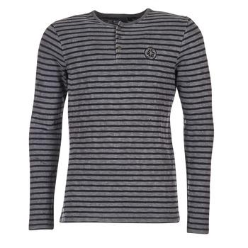 textil Herr Långärmade T-shirts Le Temps des Cerises ROGER Grå