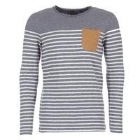 textil Herr Långärmade T-shirts Le Temps des Cerises VINCENT Grå