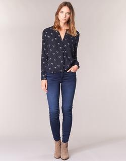 textil Dam Skinny Jeans Le Temps des Cerises ULTRAPOWER Blå
