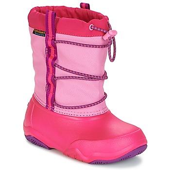 Skor Flickor Vinterstövlar Crocs Swiftwater waterproof boot Rosa