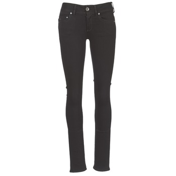 textil Dam Raka byxor G-Star Raw MIDGE SADDLE MID STRAIGHT Svart