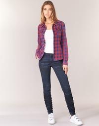 textil Dam Skinny Jeans G-Star Raw 5620 STAQ 3D MID SKINNY WMN Marin