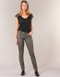textil Dam Skinny Jeans G-Star Raw 5620 STAQ 3D MID SKINNY COJ WMN Kaki