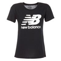 textil Dam T-shirts New Balance NB LOGO T Svart / Vit