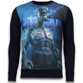 textil Herr Sweatshirts Local Fanatic The Sailor Rhinestone Blå