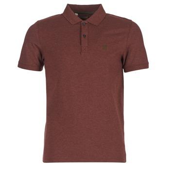 textil Herr Kortärmade pikétröjor Selected ARO Bordeaux
