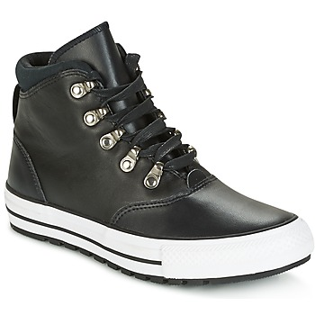 Skor Dam Höga sneakers Converse CHUCK TAYLOR ALL STAR EMBER BOOT SMOOTH LEATHER HI BLACK/BLACK/W Svart / Vit