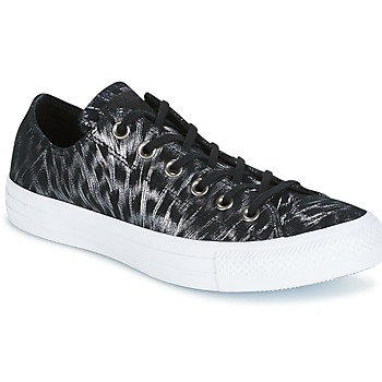 Skor Dam Sneakers Converse CHUCK TAYLOR ALL STAR SHIMMER SUEDE OX BLACK/BLACK/WHITE Svart / Vit