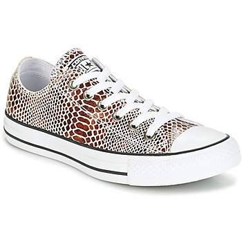 Skor Dam Sneakers Converse CHUCK TAYLOR ALL STAR FASHION SNAKE OX BROWN/BLACK/WHITE Svart / Vit