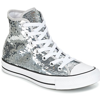 Skor Dam Höga sneakers Converse CHUCK TAYLOR ALL STAR SEQUINS HI SILVER/WHITE/BLACK Silver