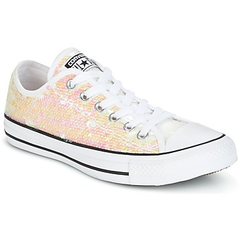Skor Dam Sneakers Converse CHUCK TAYLOR ALL STAR SEQUINS OX WHITE/BLACK/WHITE Vit / Paljett