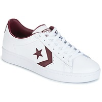Skor Herr Sneakers Converse PL 76 FOUNDATIONAL LEATHER WITH ELEVATED DETAILING OX WHITE/DEEP Vit / Bordeaux