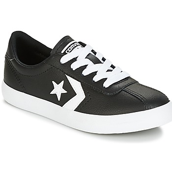 Skor Barn Sneakers Converse BREAKPOINT FOUNDATIONAL LEATHER BP OX BLACK/WHITE/BLACK Svart / Vit