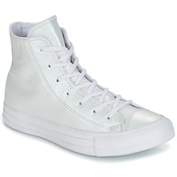 Skor Dam Höga sneakers Converse CHUCK TAYLOR ALL STAR IRIDESCENT LEATHER HI IRIDESCENT LEATHER H Vit
