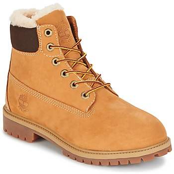 Skor Barn Boots Timberland 6 IN PRMWPSHEARLING LINED Brun