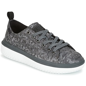 Skor Dam Sneakers Palladium CRUSHION LACE CAMO Svart / Grå