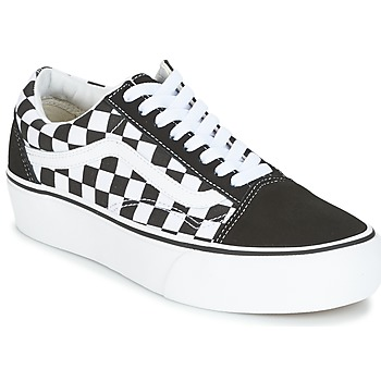 Skor Dam Sneakers Vans UA OLD SKOOL PLATFORM Svart / Vit