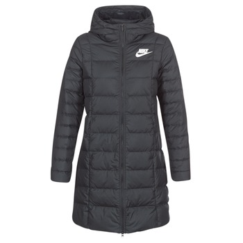 textil Dam Täckjackor Nike DOWN FILL PARKA Svart / Vit