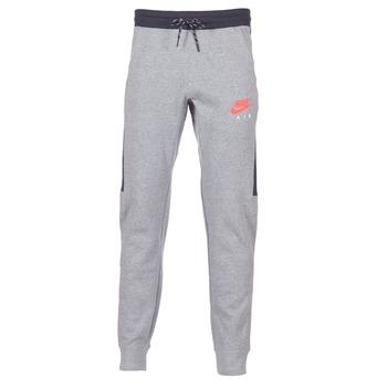 textil Herr Joggingbyxor Nike AIR JOGGER FLEECE Grå / Röd