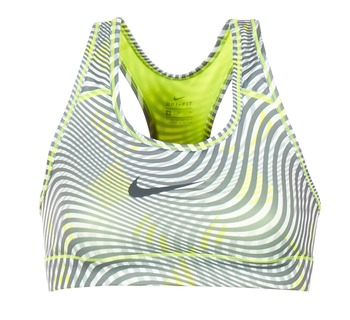 textil Dam Sport-BH Nike NIKE PRO CLASSIC BRA Gul / Grå